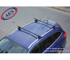 FORD FOCUS STATİON PORT BAGAJ THULE 753 RAPİD SYSTEM + ÇELİK ARA BAR + KİT