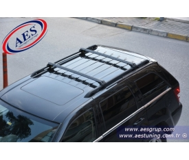 JEEP GRAND CHEROKEE ARA BAR WİNGBAR EDGE CROSSBAR KİLİTLİ ARA ATKI SİYAH